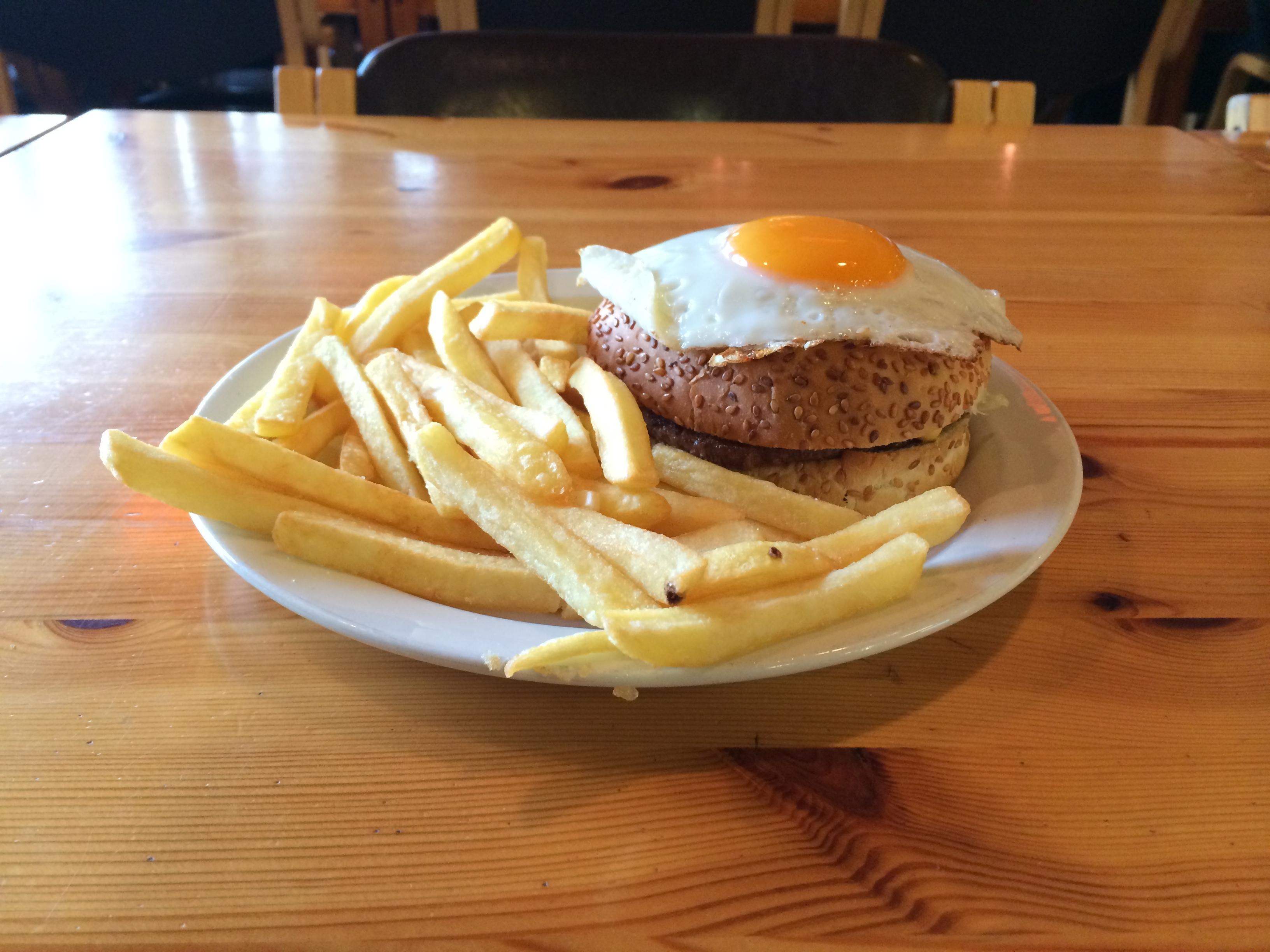 Iceland egg burger